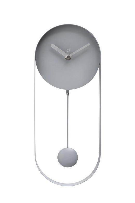 WANDUHR  Grau - Grau, KONVENTIONELL, Metall (14/35/5cm)