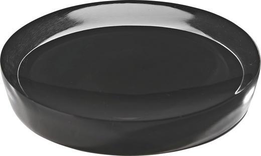 SEIFENSCHALE - Schwarz, Kunststoff (12.5/12.5/2.2cm)