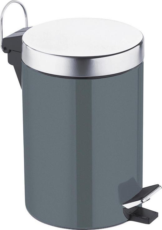 TRETEIMER Paul 3 L - Dunkelgrau/Schwarz, Basics, Kunststoff/Metall (16,8/24cm) - Celina