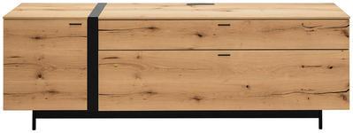 LOWBOARD 201/68,9/49,5 cm  - Eichefarben/Anthrazit, Natur, Holz/Holzwerkstoff (201/68,9/49,5cm) - Moderano