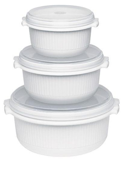 MIKROWELLENSET - Weiß, Basics, Kunststoff (0.5-1.5l) - EMSA