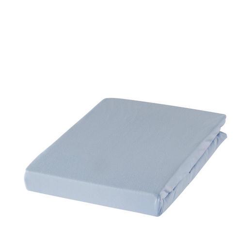 SPANNBETTTUCH Zwirn-Jersey Hellblau bügelfrei, für Wasserbetten geeignet - Hellblau, Basics, Textil (200/200cm) - Estella