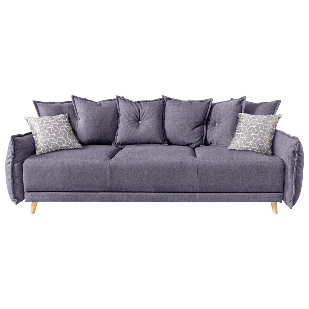 MID.YOU Dreisitzer-sofa webstoff hellgrau