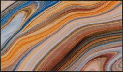 FUßMATTE 75/120 cm Graphik Beige, Multicolor - Beige/Multicolor, Kunststoff/Textil (75/120cm) - Esposa