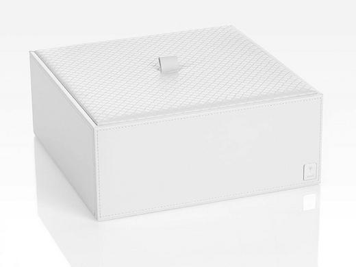 BOX MIT DECKEL - Weiß, Design, Kunststoff (25/9,5/25cm) - Joop!