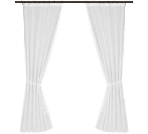 VORHANGSCHAL halbtransparent - Weiß, ROMANTIK / LANDHAUS, Textil (75/175cm) - Landscape