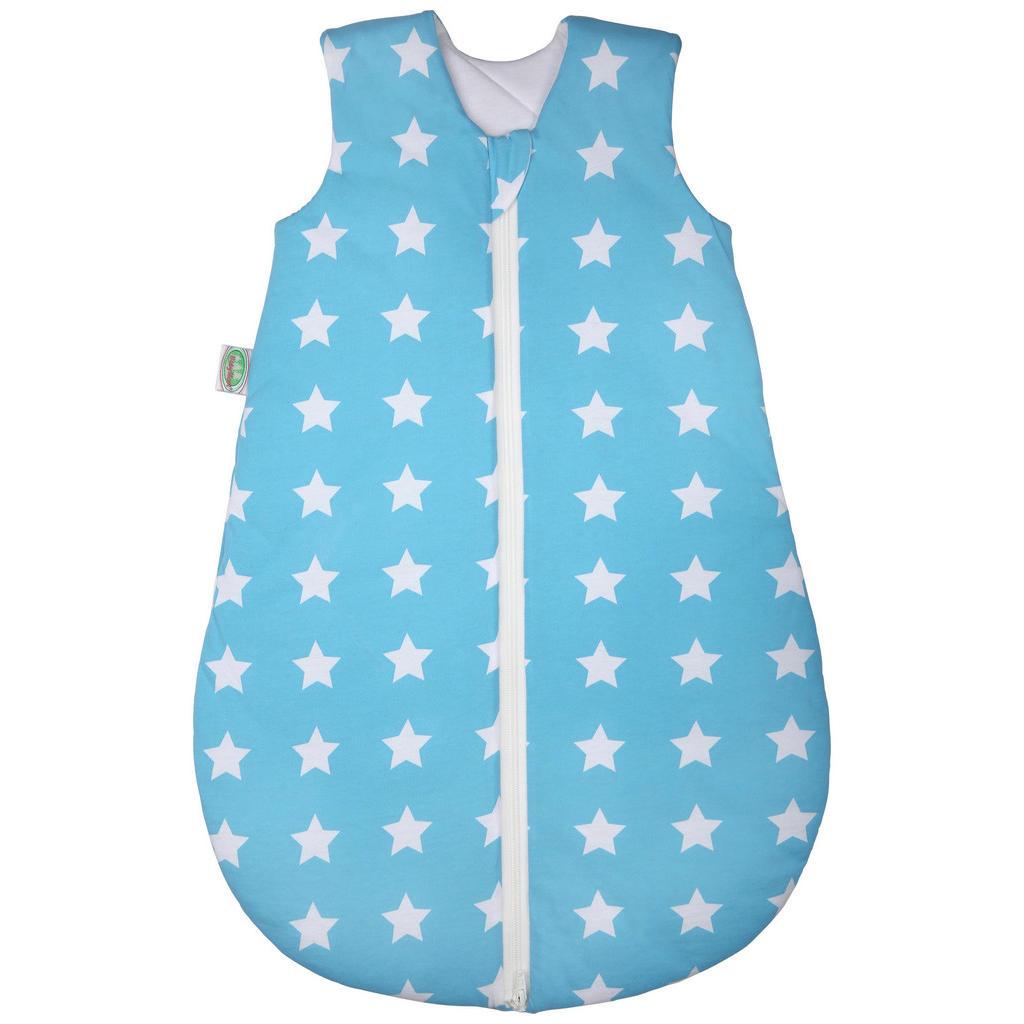 Blaues Babyschlafsäckchen mit weißen Sternen von Odenwälder