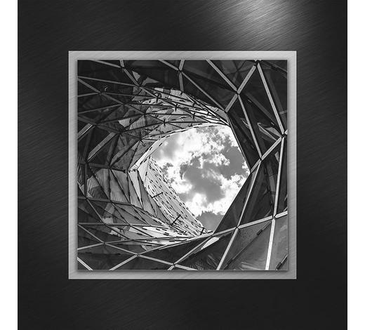 GLASBILD - Multicolor, Design, Glas/Metall (50/50/3,50cm)