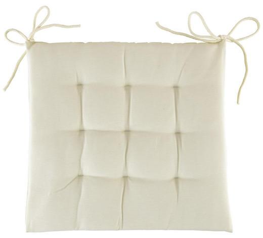 SITZKISSEN 40/40/4 cm - Creme, Basics, Textil (40/40/4cm) - Boxxx