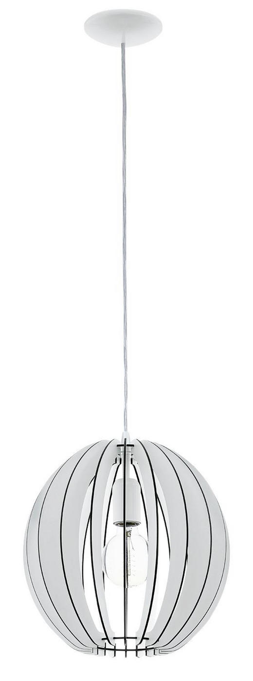 HÄNGELEUCHTE - Weiß, LIFESTYLE, Metall (30/110cm) - NOVEL