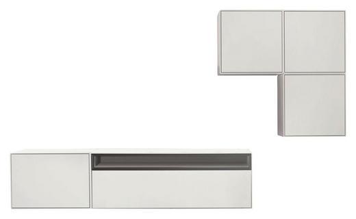 WOHNWAND Grau, Weiß - Weiß/Grau, Design (270/160/44,8cm) - Now by Hülsta