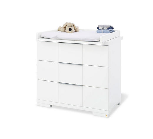 WICKELKOMMODE Pinolino Polar Weiß  - Alufarben/Weiß, Basics, Holzwerkstoff/Metall (100/78/98cm)