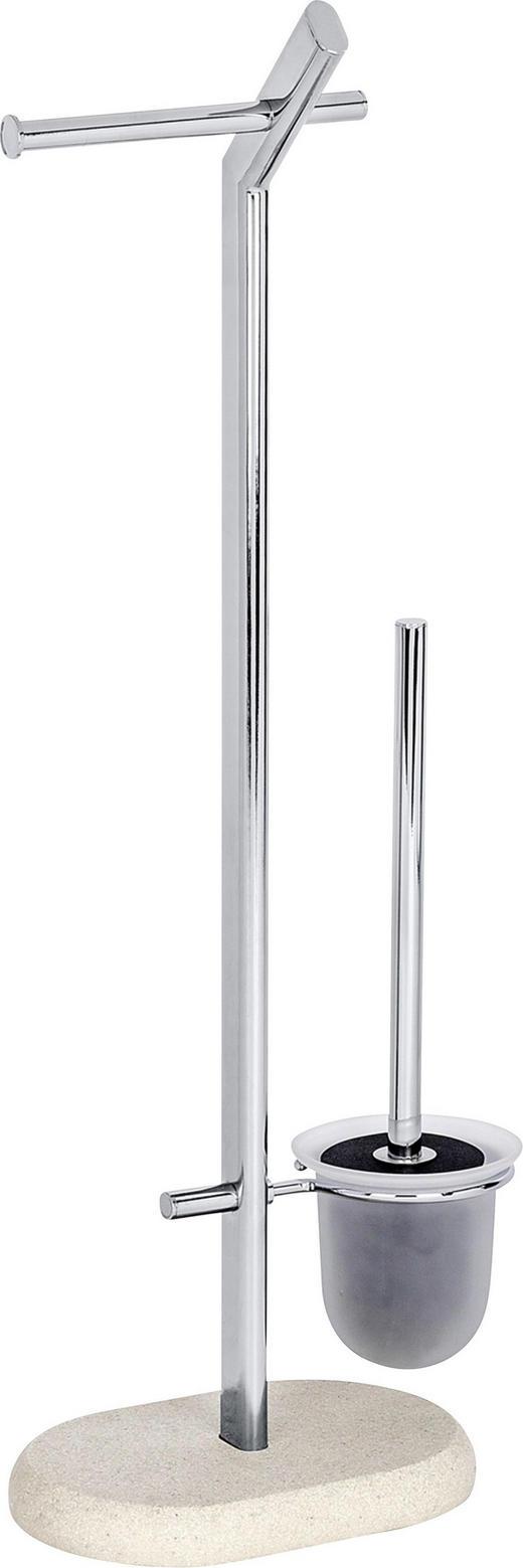 WC-BÜRSTENKOMBINATION - Beige, KONVENTIONELL, Glas/Kunststoff (29/15,5/72cm)