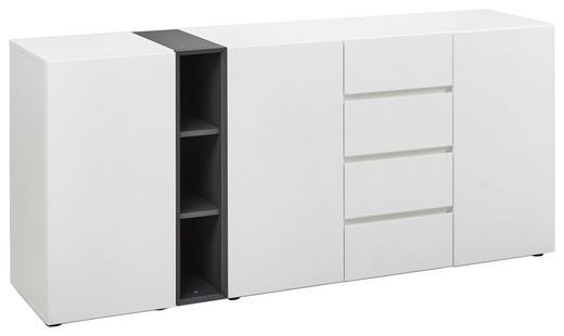 SIDEBOARD - Anthrazit/Schwarz, Design, Holzwerkstoff/Kunststoff (184/82/43cm) - Voleo