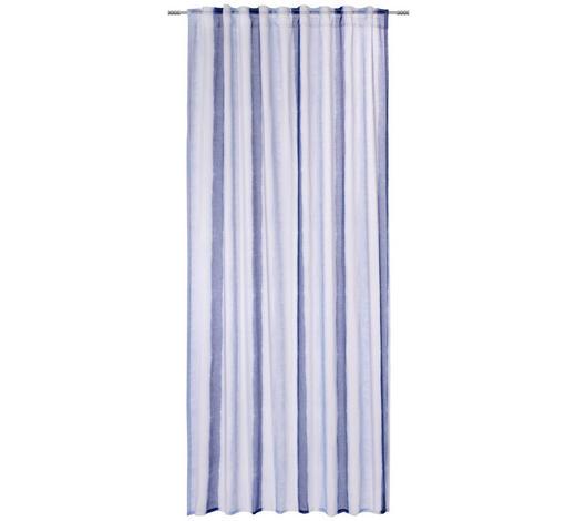 FERTIGVORHANG halbtransparent - Blau/Weiß, Trend, Textil (140/245cm) - Esposa