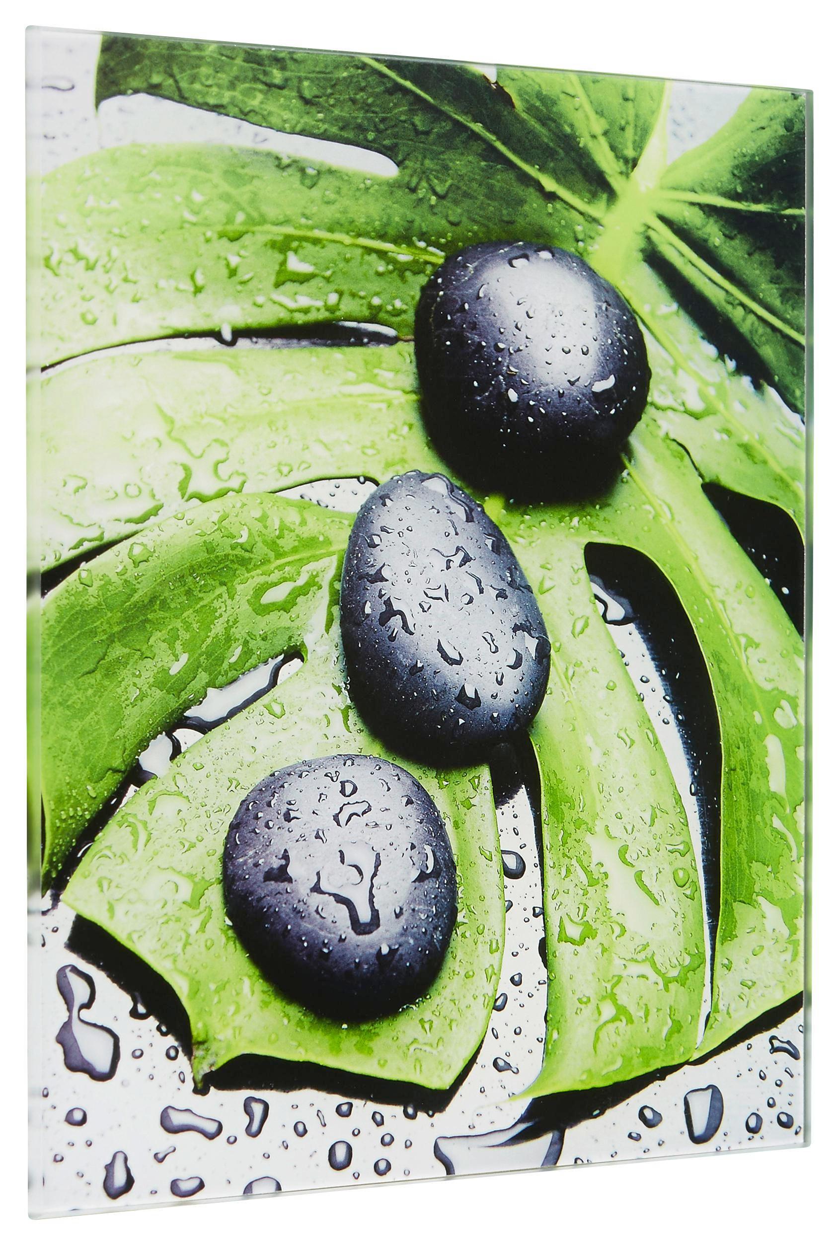 "Steine, Wasser, Zen Glasbild ""Triple Stones"" - Multicolor, Basics, Glas (20/20cm) - EUROGRAPHICS"