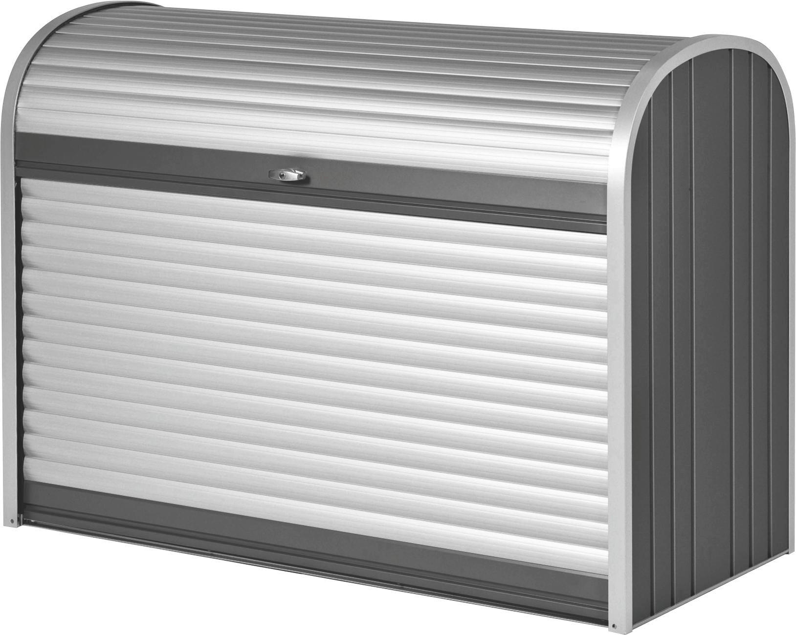AUFBEWAHRUNGSBOX - Dunkelgrau/Silberfarben, Design, Metall (163/120/78cm)
