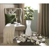 Kunstblume - Braun/Weiß, Basics, Kunststoff/Metall (122cm) - Ambia Home