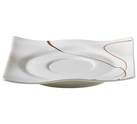 PODŠÁLEK, porcelán,  - bílá/hnědá, Design, keramika (15cm) - Ritzenhoff Breker