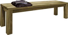 SITZBANK Wildeiche massiv Eichefarben - Eichefarben, LIFESTYLE, Holz (160/45/33cm) - Hom`in