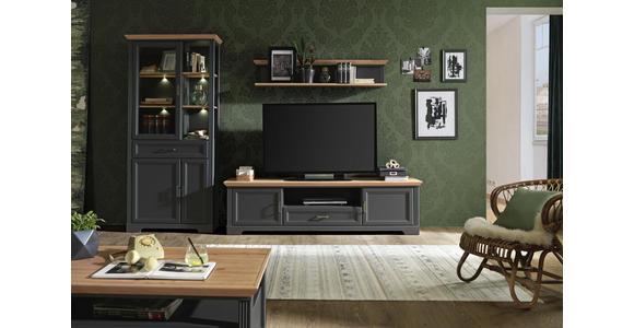 TV-ELEMENT 193/54/51 cm - Eichefarben/Graphitfarben, ROMANTIK / LANDHAUS, Holzwerkstoff/Metall (193/54/51cm) - Hom`in