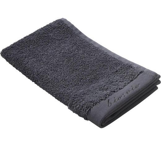 GÄSTETUCH 30/50 cm  - Anthrazit, Natur, Textil (30/50cm) - Bio:Vio