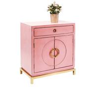 KOMMODE Pink, Kupferfarben - Pink/Kupferfarben, MODERN, Holzwerkstoff/Metall (76/85/45cm) - Kare-Design