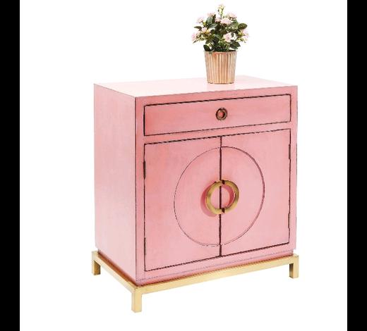 KOMMODE lackiert, antik Pink, Kupferfarben  - Pink/Kupferfarben, MODERN, Holzwerkstoff/Metall (76/86/45cm) - Kare-Design