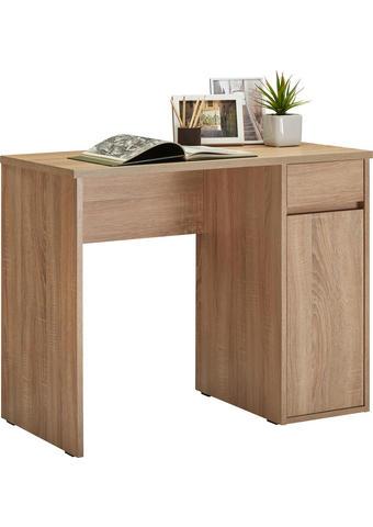 PISALNA MIZA leseni material hrast - hrast, Konvencionalno, leseni material (91,5/75/50cm) - Cantus