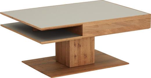 COUCHTISCH Kerneiche massiv rechteckig Eichefarben, Fango - Fango/Eichefarben, Design, Glas/Holz (105/75/46cm) - Valnatura