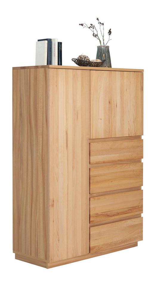KOMMODE Kernbuche teilmassiv Buchefarben - Buchefarben, Trend, Holz/Holzwerkstoff (100/143,1/41cm) - Linea Natura