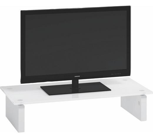 TV-AUFSATZ in Weiß - Weiß, Design, Glas (57.3/12.3/27.6cm)