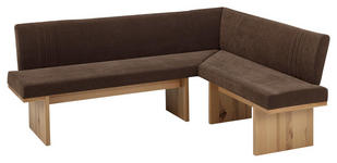 ECKBANK 200/160 cm  in Braun, Buchefarben - Buchefarben/Braun, KONVENTIONELL, Holz/Textil (200/160cm) - Venda
