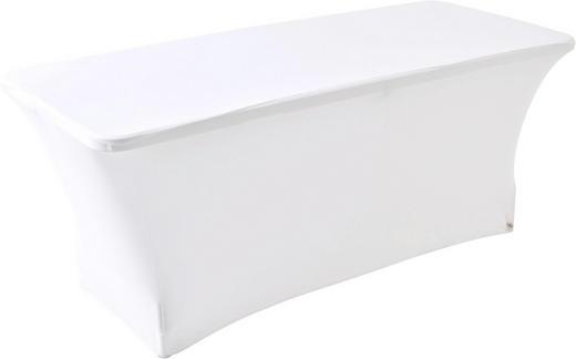 TISCHHUSSE Textil Weiß - Weiß, Basics, Textil (180/76/74cm)