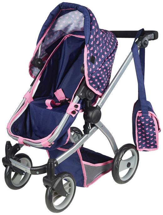 PUPPENWAGEN - Blau/Pink, Basics, Textil/Metall (55/70/35cm)