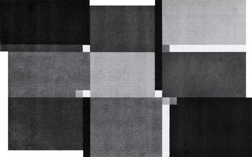 FUßMATTE 110/175 cm Graphik Grau, Schwarz, Weiß - Schwarz/Weiß, Basics, Kunststoff/Textil (110/175cm) - Esposa