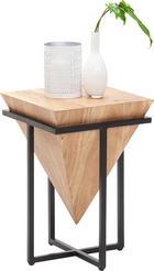 BEISTELLTISCH in Naturfarben, Schwarz - Schwarz/Naturfarben, Trend, Holz/Metall (36/36/56cm) - Ambia Home