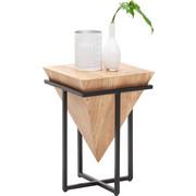 ODKLÁDACÍ STOLEK, dřevo, kov, akácie, masivní, přírodní barvy, černá - černá/přírodní barvy, Trend, kov/dřevo (36/36/56cm) - Ambia Home