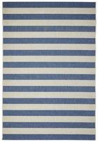 FLACHWEBETEPPICH  Blau, Weiß  80/200 cm - Blau/Weiß, Basics, Textil (80/200cm)