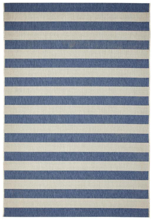 FLACHWEBETEPPICH  160/230 cm  Blau, Weiß - Blau/Weiß, Basics, Textil (160/230cm)