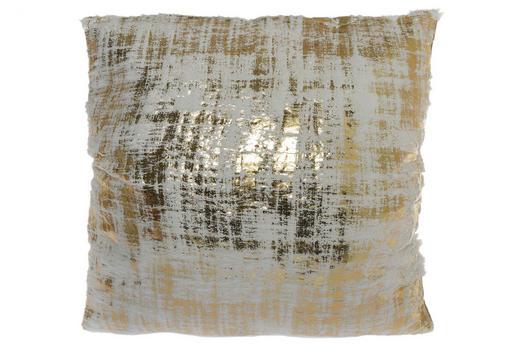 ZIERKISSEN 45/45 cm - Goldfarben/Weiß, Textil (45/45cm)