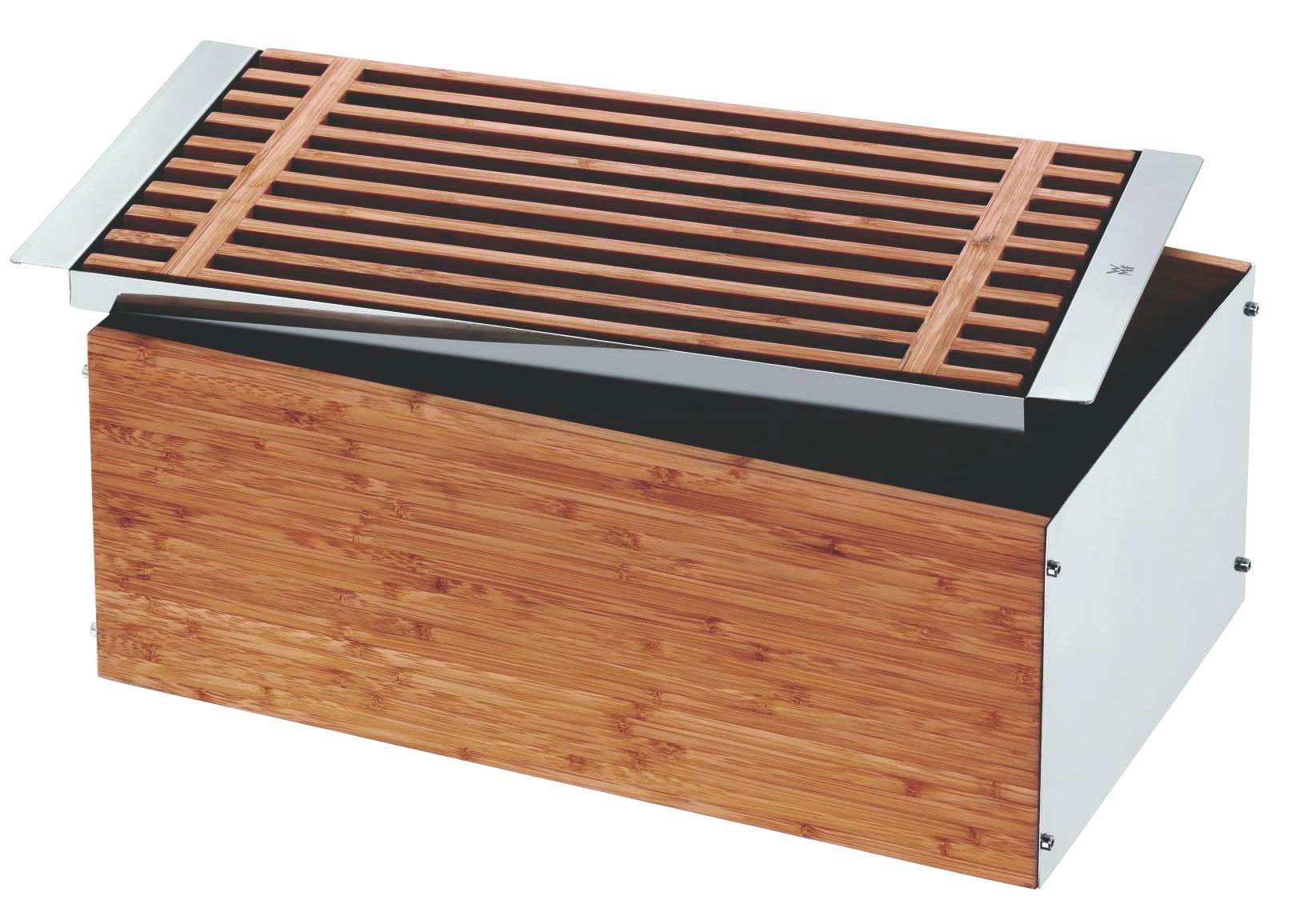 BROTKASTEN - Braun, Basics, Holz/Metall (46/26/18cm) - WMF