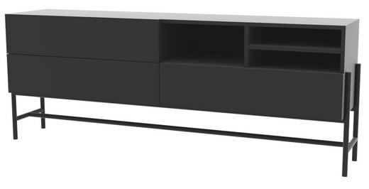 SIDEBOARD lackiert Schwarz - Schwarz, Trend, Holzwerkstoff/Metall (185/70/42,2cm) - Carryhome
