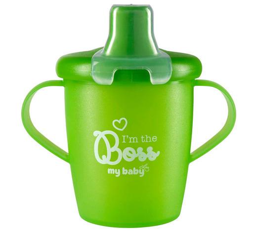 DĚTSKÝ POHÁR - zelená, Basics, umělá hmota (7cm) - My Baby Lou