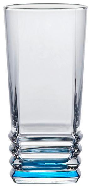 LONGDRINKGLAS - klar/turkos, Klassisk, glas (6,8/14cm) - Homeware