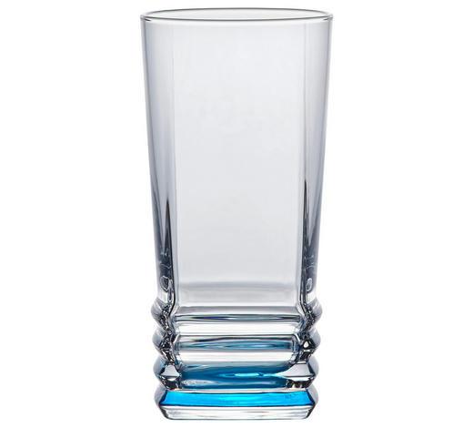 SKLENIČKA NA LONGDRINK - čiré/tyrkysová, Konvenční, sklo (6,8/14cm) - Homeware