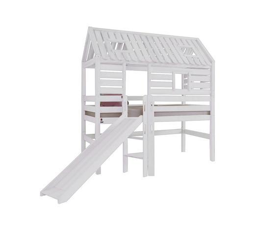 SPIELBETT - Weiß, Design, Holz (90/200cm)