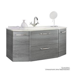 ORMARIĆ ISPOD UMIVAONIKA - Grafitno siva/Boje hroma, Dizajnerski, Drvo (111/52/48cm) - Xora