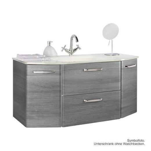 WASCHTISCHUNTERSCHRANK Graphitfarben - Chromfarben/Graphitfarben, Design, Holz (111/52/48cm) - Xora