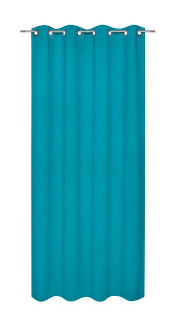 ÖSENVORHANG black-out (lichtundurchlässig) - Petrol, Basics, Textil (140/245cm) - ESPOSA
